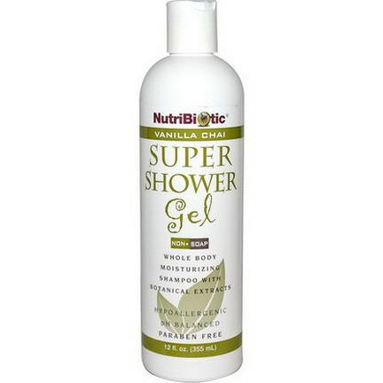 NutriBiotic, Super Shower Gel, Non-Soap, Vanilla Chai 355ml