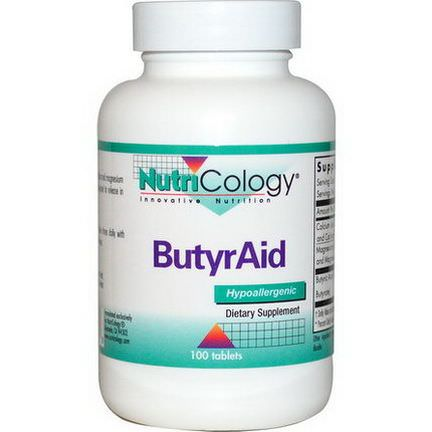 Nutricology, ButyrAid, 100 Tablets