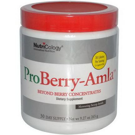 Nutricology, ProBerry-Amla, Beyond Berry Concentrates 265g