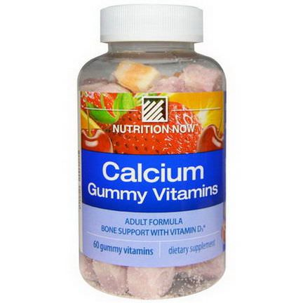Nutrition Now, Calcium Gummy Vitamins, Adult Formula, Orange, Cherry&Strawberry, 60 Gummy Vitamins