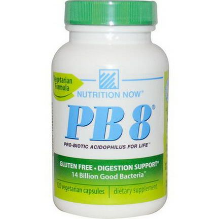 Nutrition Now, PB8, Pro-Biotic Acidophilus For Life, 120 Veggie Caps