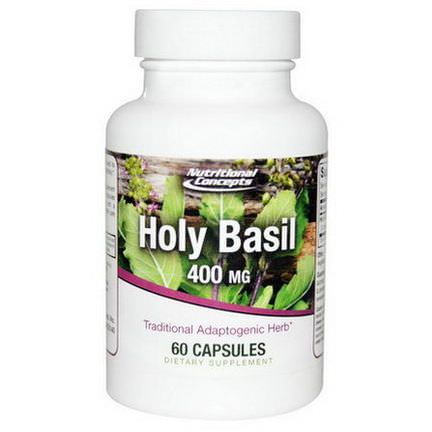 Nutritional Concepts, Holy Basil, 400mg, 60 Capsules