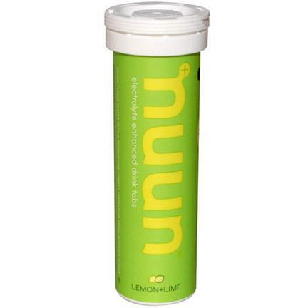 Nuun Hydration, Electrolyte-Enhanced Drink Tabs, Lemon+Lime, 12 Tablets