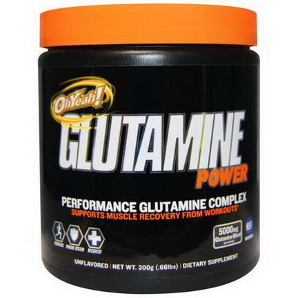 Oh Yeah, Glutamine Power, Performance Glutamine Complex, Unflavored 300g