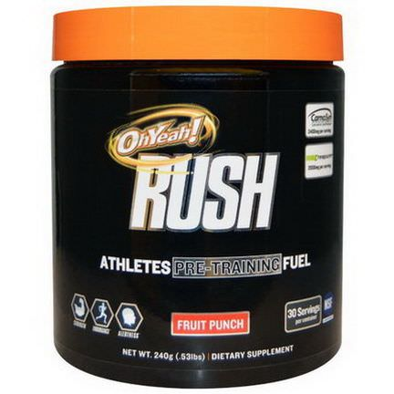 Oh Yeah, Rush, Athletes Pre-Training Fuel, Fruit Punch 240g
