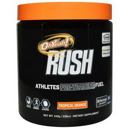 Oh Yeah, Rush, Athletes Pre-Training Fuel, Tropical Orange 240g