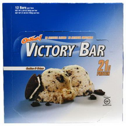 Oh Yeah, Victory Bar, Cookies&Creme, 12 Bars 65g Each