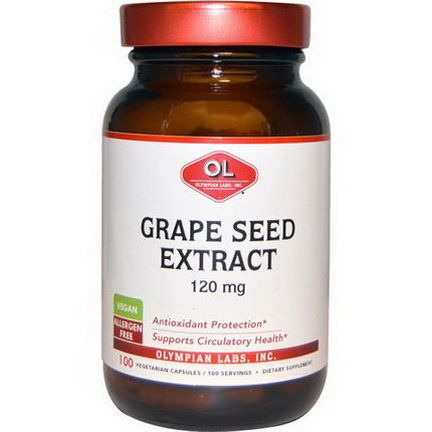 Olympian Labs Inc. Grape Seed Extract, 120mg, 100 Veggie Caps