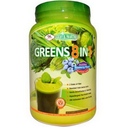 Olympian Labs Inc. Greens 8 in 1, Delicious Blueberry Flavor 730g