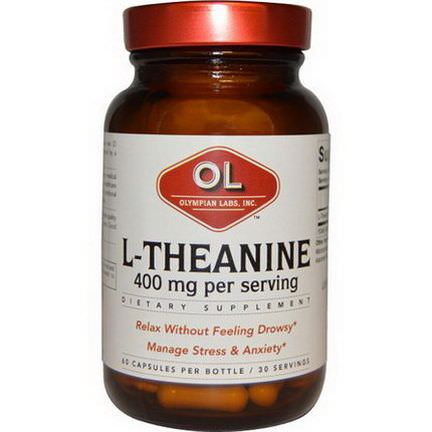 Olympian Labs Inc. L-Theanine, 400mg, 60 Capsules