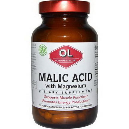 Olympian Labs Inc. Malic Acid, with Magnesium, 90 Veggie Caps