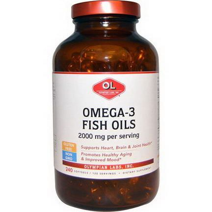 Olympian Labs Inc. Omega-3 Fish Oils, 2000mg, 240 Softgels
