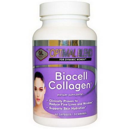 Olympian Labs Inc. Optimal Blend, Biocell Collagen, For Women, 60 Capsules