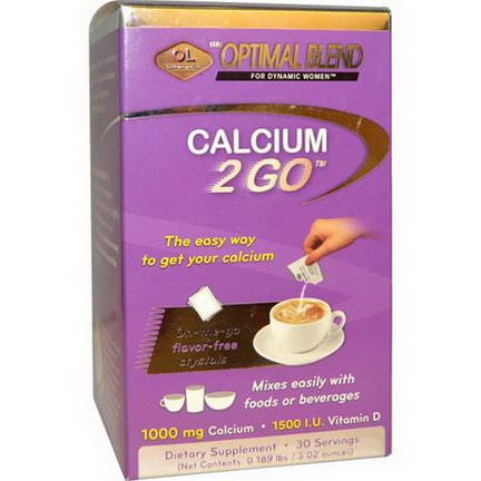 Olympian Labs Inc. The Optimal Blend, Calcium 2 Go, Flavor Free 0.189 lbs