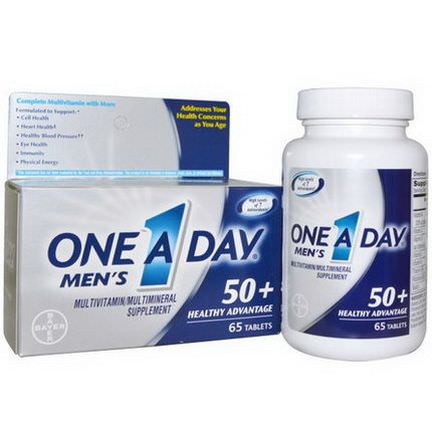 One-A-Day, Men's, 50+ Healthy Advantage, Multivitamin/Multimineral, 65 Tablets