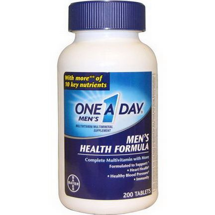 One-A-Day, One A Day Men's, Men's Health Formula, 200 Tablets