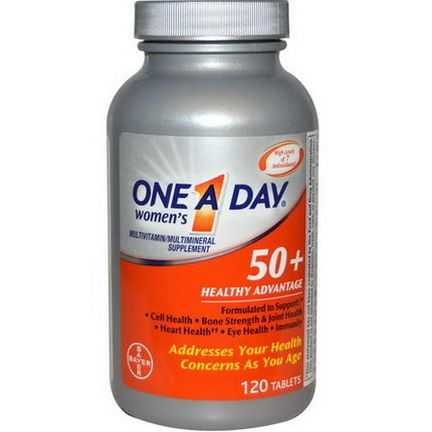 One-A-Day, Women's 50+ Healthy Advantage, Multivitamin/Multimineral Supplement, 120 Tablets