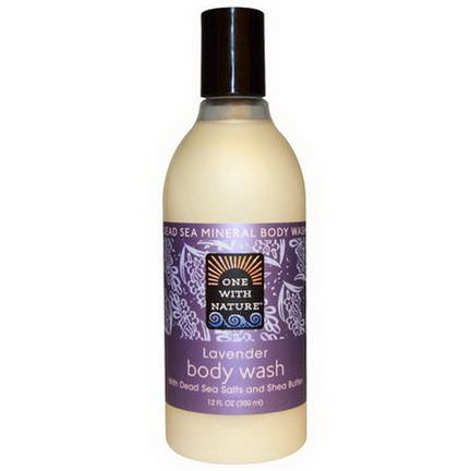 One with Nature, Lavender Body Wash with Dead Sea Salt and Shea Butter 350ml