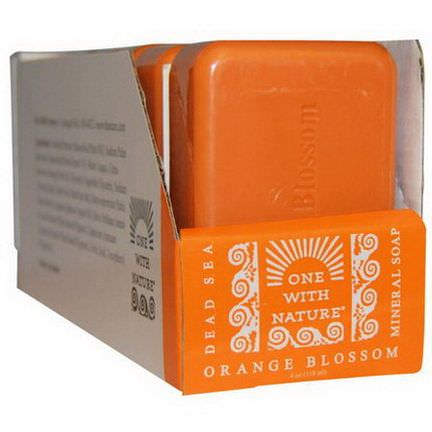 One with Nature, Dead Sea Mineral Soap, Orange Blossom, 6 Bars, 4 oz Each