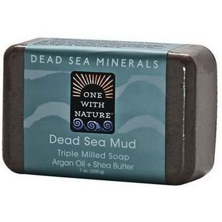 One with Nature, Dead Sea Mud Soap Bar 200g