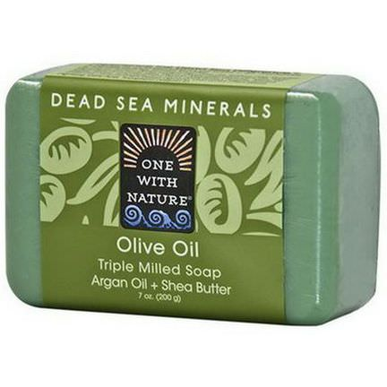 One with Nature, Olive Oil, Triple Milled Soap Bar 200g