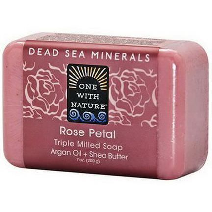 One with Nature, Rose Petal Soap Bar 200g