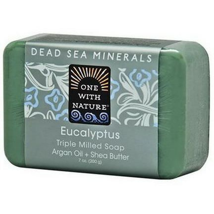 One with Nature, Triple Milled Soap Bar, Eucalyptus 200g