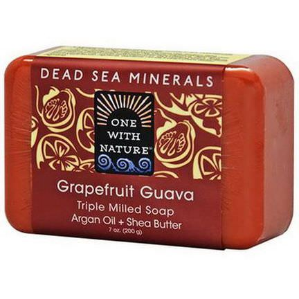 One with Nature, Triple Milled Soap Bar, Grapefruit Guava 200g