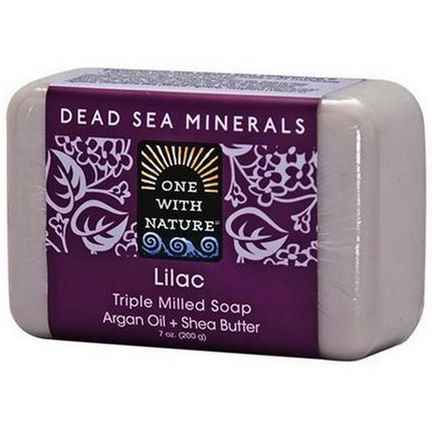 One with Nature, Triple Milled Soap Bar, Lilac 200g