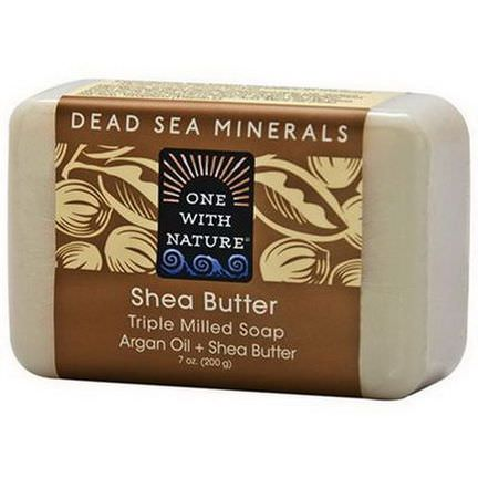One with Nature, Triple Milled Soap Bar, Shea Butter 200g