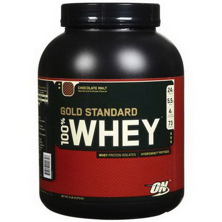 Optimum Nutrition, 100% Whey Gold Standard, Chocolate Malt 2,273g