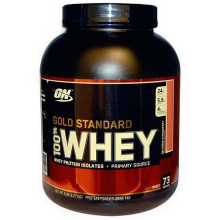Optimum Nutrition, Gold Standard, 100% Whey, Delicious Strawberry 2.27 kg