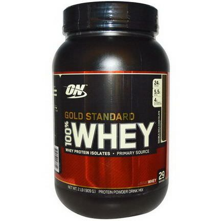 Optimum Nutrition, 100% Whey Gold Standard, Double Rich Chocolate 909g