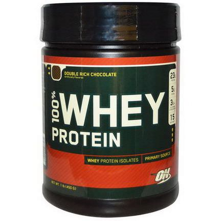 Optimum Nutrition, 100% Whey Protein, Double Rich Chocolate 450g