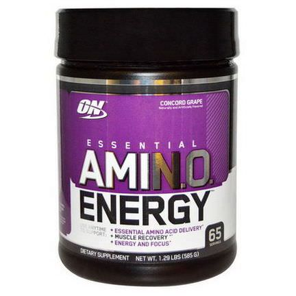 Optimum Nutrition, Essential AmiN.O. Energy, Concord Grape 585g