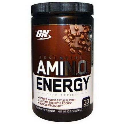 Optimum Nutrition, Essential AmiN.O. Energy, Iced Mocha Cappucino Flavor 300g