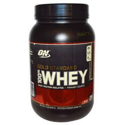 Optimum Nutrition, Gold Standard, 100% Whey, Extreme Milk Chocolate 909g