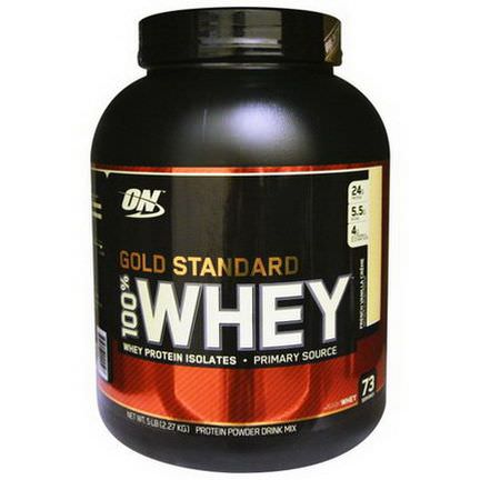 Optimum Nutrition, Gold Standard, 100% Whey Protein, French Vanilla Creme 2.27 kg