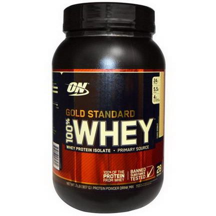 Optimum Nutrition, Gold Standard 100% Whey, Whey Protein Isolate, Cake Donut 907g