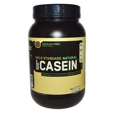 Optimum Nutrition, Gold Standard Natural, 100% Casein, Chocolate Creme 909g