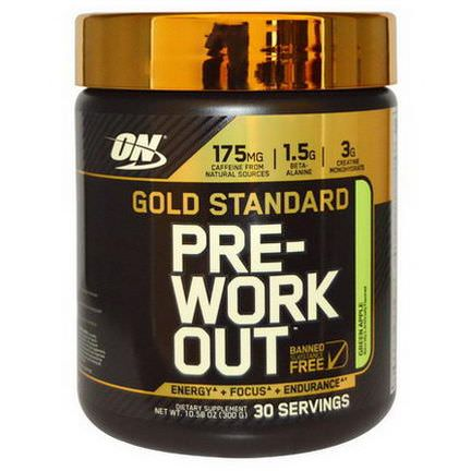 Optimum Nutrition, Gold Standard, Pre-Workout, Green Apple 300g