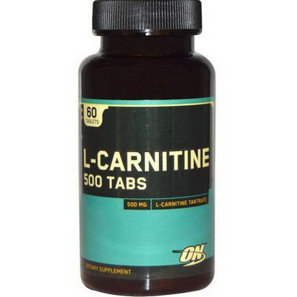 Optimum Nutrition, L-Carnitine, 500mg, 60 Tablets