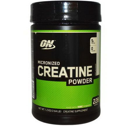 Optimum Nutrition, Micronized Creatine Powder, Unflavored 1.2 kg