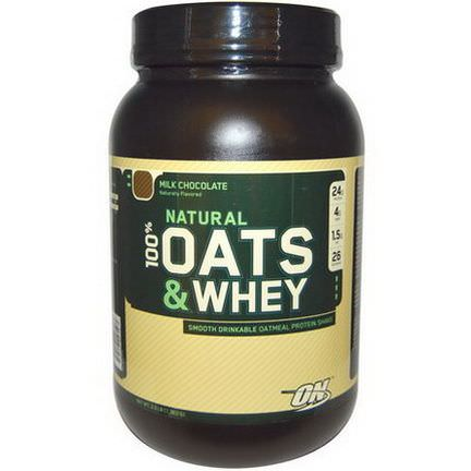 Optimum Nutrition, Natural 100% Oats&Whey Protein Shake, Milk Chocolate 1,363g