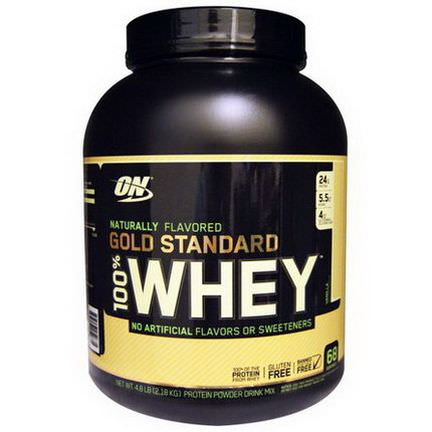 Optimum Nutrition, Naturally Flavored 100% Whey Gold Standard, Vanilla 2.18 kg