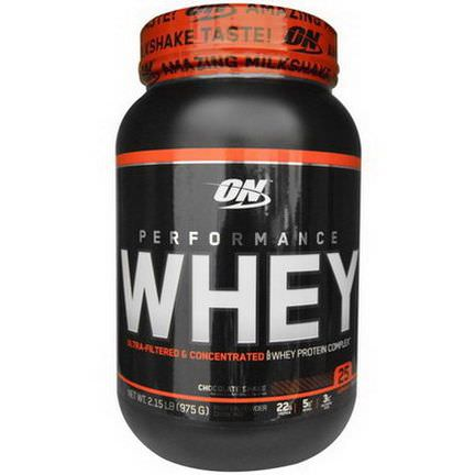 Optimum Nutrition, Performance Whey, Chocolate Shake 975g