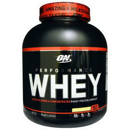 Optimum Nutrition, Performance Whey, Vanilla Shake 1.9 kg