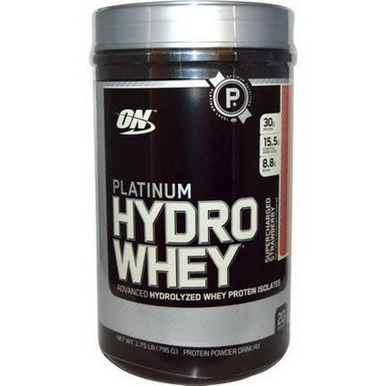 Optimum Nutrition, Platinum HydroWhey, Supercharged Strawberry 795g