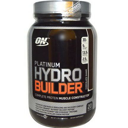 Optimum Nutrition, Platinum Hydrobuilder, Chocolate Shake 1040g