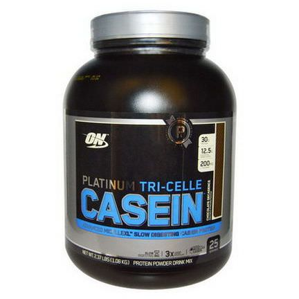 Optimum Nutrition, Platinum Tri-Celle Casein, Chocolate Decadence 1.08 kg